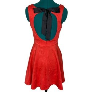 Trixxi Open Bow Back Fit and Flare Sexy Dress